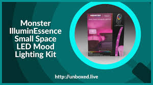 Monster Illuminessence Small Space Led Mood Light Kit Monster Illuminessence Small Space Led Mood Lighting Kit Plughitz Live Unboxed