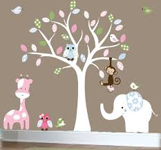 baby room decals for walls children s jungle wall decal nursery white tree wall decal patterned vinyl