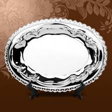 <b>Тарелка металлическая овальная</b> — Сувенирный Склад