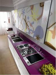 Purple Kitchen Kitchen Large Piece Floral Canvas Wall Art Abstract Modern