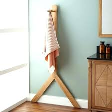 floor towel stand floor towel stand towel racks towel bars towel shelves signature hardware floor standing floor towel stand