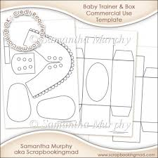 instant card making downloads baby trainer box template commercial use instant card making