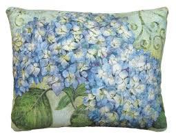 Blue Hydrangea Outdoor Pillow 18