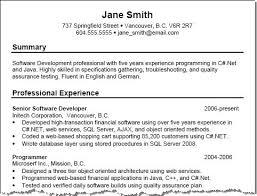 Resume Template Summary Resume Examples Diacoblog Com