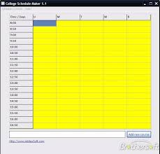 schedule creater download free college schedule maker college schedule maker 1 1