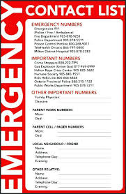 Address And Phone Number List Printable Emergency Contact Sheet And Lots Of Others For List Free
