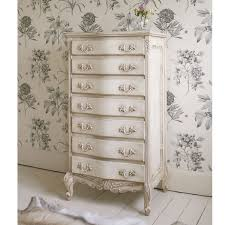 shabby chic furniture bedroom. Delphine Shabby Chic Antique White Tallboy By The French Bedroom Company Furniture U