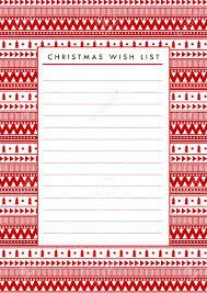 Printable Christmas Gift List Template Vector Christmas Wish List Blank Paper Printable Holidays Template