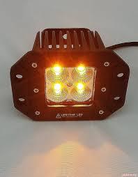Amber Led Offroad Lights 3 Inch Flush Mount Off Road Lights 20 Watt Amber White Lifetime Led Lights
