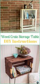diy wood crate storage table