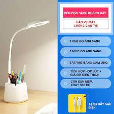 Săn Sale Đèn Bàn Học Đọc Sách LED Chống Cận 03 Chế Độ Ánh Sáng Vàng Bảo Vệ  Mắt Hàng chính hãng chính hãng 319,000đ