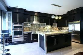Kitchen Backsplash With Dark Cabinets Contemporary Kitchen Ideas