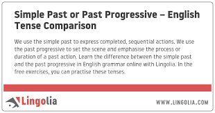 Simple Past Or Past Progressive English Tense Comparison