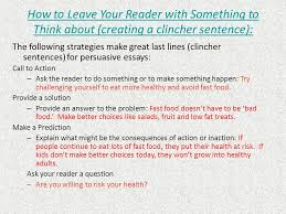a few things you should know ppt video online  how to leave your reader something to think about creating a clincher sentence