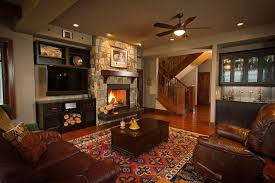 traditional living room ideas with fireplace. Traditional Living Room Ideas With Fireplace And Tv Dark Millwork Ceiling Fan T