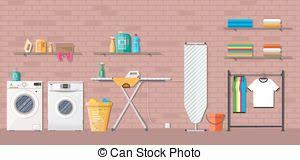 washing machine and dryer clipart. laundry room with washing machine and dryer clipart
