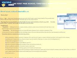 The School Timetable Scheduling System Free Generator Online