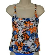 Island Escape Swimwear Size Chart Details About Island Escape Floral Push Up Tankini Top Size 8 Swimsuit New