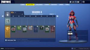 Fortnite Season 4 Level Chart Season 4 Battle Pass Overview Lootlake Net