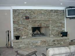 dry stack stone fireplace stacked for designs