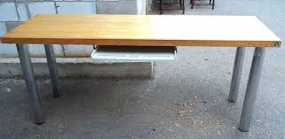 butcher block desk round oak table and chairs office countertops ikea cost