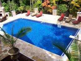 rectangular inground pool designs. Swiming Pools Awesome Rectangle Pool Design With Red Lounge Chairs Also Backyard Plants And Marble Floor Besides Metal Fences Inground Liner Rectangular Designs G