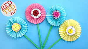 Chart Paper Flowers Step By Step How To Make Paper Flowers Step By Step With Pictures Red