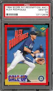 Alex rodriguez 1994 upper deck #24 rookie card near mint to mint $19.95. 1994 Score Rookie Traded Alex Rodriguez Redemption Card Psa Cardfacts
