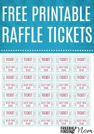 Print Raffle Tickets At Home Free Printable Raffle Tickets Printable Tickets Raffle
