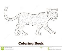 Animal Africain De La Savane De L Opard De Livre De Coloriage