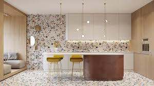 retro modern interior filled with