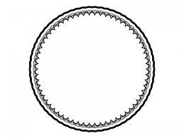 レース編みドイリーの白黒飾り枠フレームイラスト04 無料イラスト