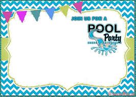 Free Pool Party Invitation Templates Invitation World