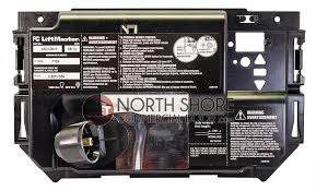 liftmaster 41d216 garage door opener end panel with all labels light socket