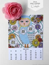 Customizable Calendar 2015 Homework Inkling 2015 Owl Lovers Free Customizable Calendar
