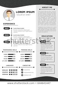 Resume Cv Vector Template Nice Minimalist Stock Vector Royalty Free Magnificent Nice Resume