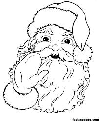 Santa Coloring Pages Online Free Jokingartcom Santa Coloring