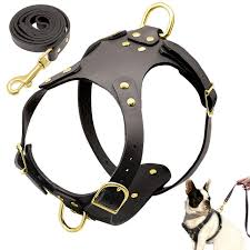 pit bull dog harness leash set no pull genuine leather dogs harnesses step in pet harness