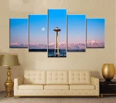 oil painting printed on canvas colorful wall pictures for living room home decor wall art picture seattle space needle 4k seattle space needle 4k home  on best wall art in seattle with oil painting printed on canvas colorful wall pictures for living