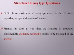 essay type questions and their improvement ppt structured essay type questions