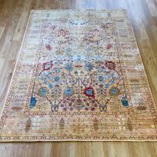 aqua silk rug b050b beige orange 160 x 250 cm 5 3