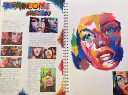 gcse art book layout y10 gcse portfolio project st mary s catholic high of gcse
