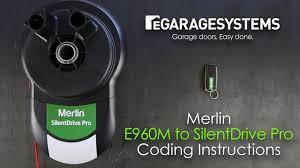 merlin silentdrive pro garage door opener e960m remote coding instructions