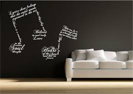 image is loading music note symbols wall art sticker quote decal  on stencil wall art quotes with music note symbols wall art sticker quote decal transfer mural