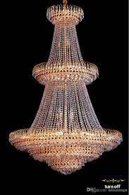 Großhandel American Gold Kristall Kronleuchter Lampe Moderne Goldene Kristall Kronleuchter Leuchten Europäische Hotelhalle Lounge Bar Home