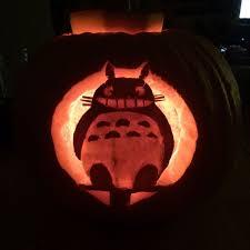 Totoro Pumpkin Designs My Neighbor Totoro Jack O Lantern Myneighbortotoro