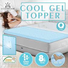 thick mattress topper. Queen Size Mattress Topper Cool Gel Memory Foam -8cm Thick C