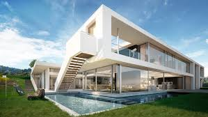 architectural visualization of a luxury house in los angeles