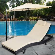 picture of outdoor pool chaise lounge chair patio furniture adjule with cushion