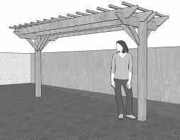 two post freestanding pergola building construction diy within pergolas plan 13
